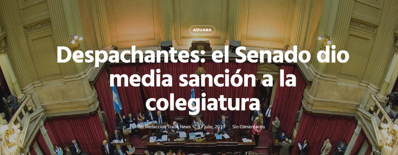 Despachantes: el Senado dio media sanción a la colegiatura