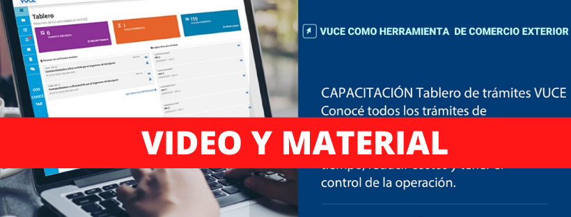 Video y Material: Capacitación virtual VUCE
